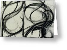 Charcoal Arc Drawing 6 Greeting Card