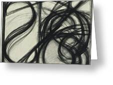 Charcoal Arc Drawing 7 Greeting Card