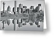 Charcoal Big D Reflection Greeting Card