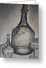 Charcoal  Glass Greeting Card