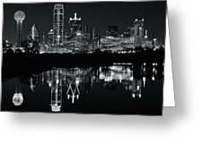 Charcoal Night In Dallas Greeting Card