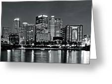 Charcoal Panoramic In Pittsburgh 2017 Greeting Card