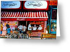Charcuterie Schwartz's Deli Montreal Greeting Card