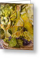 Chardonnay At The Vineyard Greeting Card