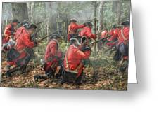 Charge Of The 60th Royal Americans Regiment At Bushy Run Greeting Card by Randy Steele
