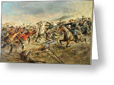 Charge Of The Seventh Cavalry Greeting Card