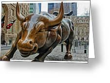 Charging Bull 4 Greeting Card