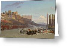 Chariot Race Greeting Card