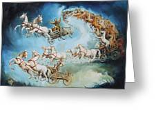 Chariots In Storm Greeting Card