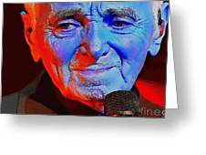 Charles Aznavour Greeting Card