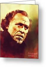 Charles Bukowski, Literary Legend Greeting Card