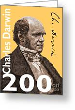 Charles Darwin 200 Yellow Greeting Card