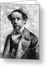 Charles Dickens Author Greeting Card