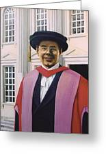 Charles Harpum Receiving Doctorate Of Law Greeting Card