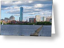 Charles River Boston Ma Crossing The Charles Greeting Card