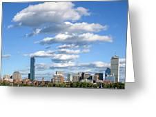 Charles River Cloud Stack Boston Ma Greeting Card