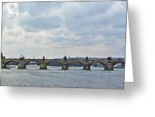 Charles Street Bridge Greeting Card by Paul Pobiak