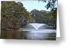 Charles Towne Landing Fountain Greeting Card