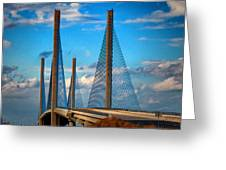 Charles W Cullen Bridge South Approach Greeting Card