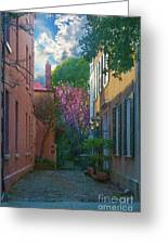 Charleston Alley In The Spring Greeting Card