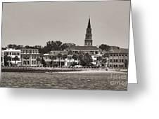 Charleston Battery South Carolina Sepia Greeting Card