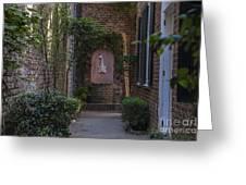 Charleston Brick Alley Greeting Card