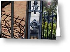 Charleston Gates Greeting Card