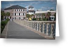 Charleston High Battery Side Walk Greeting Card