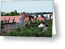 Charleston Rooftops - Queen And Church Streets Greeting Card