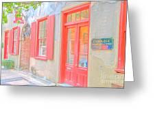 Charleston Sc Catfish Row Greeting Card