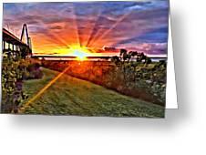 Charleston Sunset Greeting Card