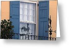 Charleston Weathervane Reflection Greeting Card
