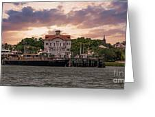 Charleston Wharf Greeting Card