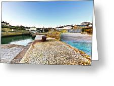 Charlestown From The Sea Wall Greeting Card