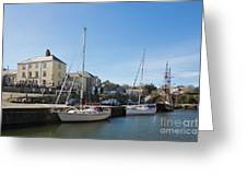 Charlestown Harbour Cornwall Greeting Card