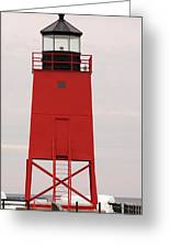 Charlevoix South Pier Lighthouse Greeting Card