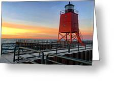 Charlevoix South Pier Lightstation Greeting Card