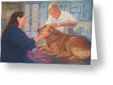 Charlie And The Vet Greeting Card