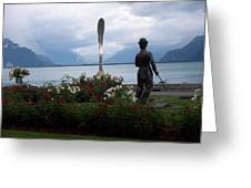 Charlie Chaplain At Geneva Lake Greeting Card