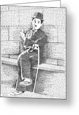 Charlie Chaplin In His Own Words Greeting Card