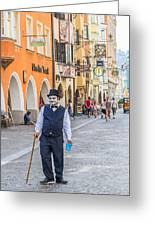Charlie Chaplin In Innsbruck Greeting Card