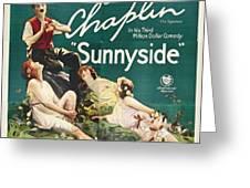 Charlie Chaplin In Sunnyside 1919 Greeting Card