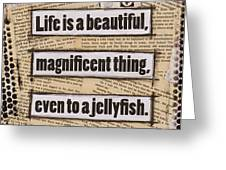 Charlie Chaplin Life Is Beautiful Greeting Card