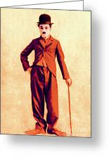 Charlie Chaplin The Tramp 20130216p68 Greeting Card by Wingsdomain Art and Photography