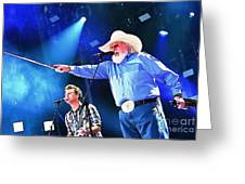 Charlie Daniels On Stage Greeting Card