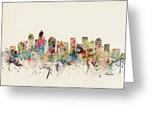 Charlotte City Skyline Greeting Card