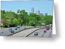 Charlotte Skyline From A Distance Greeting Card
