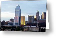 Charlotte Skyline Greeting Card by Tim Mattox