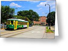 Charlotte Streetcar Line 1 Greeting Card