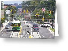 Charlotte Streetcar Line 2 Greeting Card